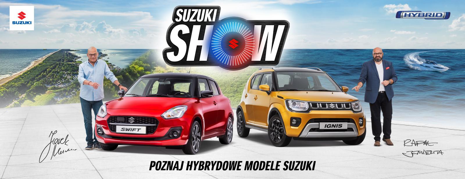 Suzuki Show Jarek Maznas oraz Rafał Jemielit w obecności Suzuki Swift oraz Ignis